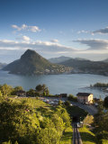 Ticino  Lake Lugano  Lugano  Town View and Monte San Salvador from Monte Bre  Switzerland