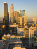 California  Los Angeles  Aerial View of Downtown from West 11th Street  Sunset  USA
