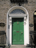 Green Door  Merrion Square  Dublin  Ireland