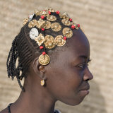 Timbuktu  A Songhay Girl with an Elaborately Decorated Hairstyle in Timbuktu  Mali