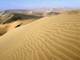 Sand Dunes Stretch into the Distance  in the Coastal Desert Bordering Ica  in Southern Peru