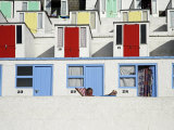Beach Huts on Tolcarne Beach  Newquay  Cornwall  England