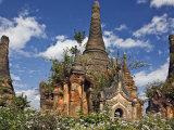 Some of Old Buddhist Shrines and Stupas at Shwe Inn Tain Pagoda and Monastery Complex  Myanmar