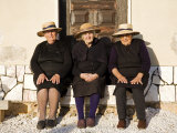 Alentejo  Estremoz  Three Elderly Portuguese Ladies Near in Alentejo Region  Portugal