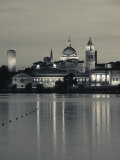 Lombardy  Mantua  Town View and Palazzo Ducale from Lago Inferiore  Italy