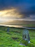 Standing Stones Near Portmagee  Valentia Island  Co Kerry  Ireland