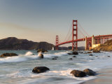 California  San Francisco  Baker&#39;s Beach and Golden Gate Bridge  USA