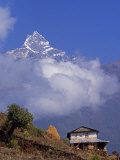 Hillside House with the Fishtail Peak of Machhapuchhare 6  993 Metres Behind