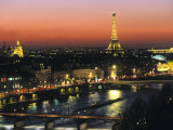 Eiffel Tower and River Seine  Paris  France