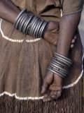 Numerous Decorated Iron Bracelets Worn by a Datoga Woman  Tanzania