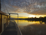 Amazon River  Sunrise on the Ayapua Riverboat  Yavari River  a Tributary of the Amazon River  Peru