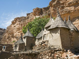 Dogon Country  Tereli  Granaries at Tereli - a Typical Dogon Village at the Base of the Bandiagara