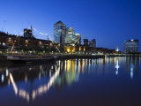 Buenos Aires  Puerto Madero  Highrise Buildings  Dusk  Argentina