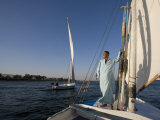 Feluccas Sailing on the Nile at Luxor  Egypt
