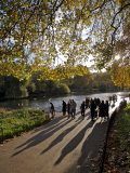 People Enjoy an Autumn Walk in St James's Park in Autumn