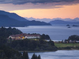 Rio Negro Province  Lake District  Hotel Llao Llao and Lake Nahuel Huapi  Dusk  Argentina