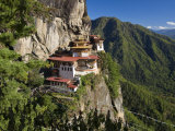 Taktsang Dzong or Tiger&#39;s Nest  Built in the 8th Century  Paro  Bhutan