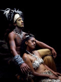 Rapanui Man and Woman  Singa Miguel Angel and Uri Francesca Avaka  in Costume at Te Pahu Caves