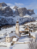 Church in Colfosco  Badia and Sella Massif Range  Dolomites  South Tirol  Italy
