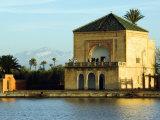 Morocco Marrakesh Menara Garden Pavilion Water Basin