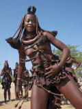 Himba Women Perform the Otjiunda Dance  Stamping  Clapping and Chanting