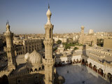 Minarets of the Al-Azhar Mosque in Islamic Cairo  Egypt