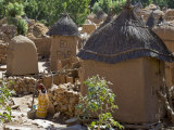 Dogon Country  an Attractive Dogon Village on Top of the Bandiagara Escarpment  Mali