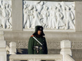 Beijing  Tiananmen Square  A Guard on Duty in Front of a Communist Monument  China