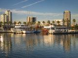 California  Long Beach  Shoreline Village  Marina and City View  USA