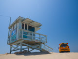 California  Los Angeles  Venice  Venice Beach  Lifeguard Station and Vehicle  USA