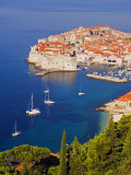 Unesco World Heritage Old Town Harbour  Dubrovnik  Croatia