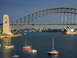 New South Wales  Sydney  View over Lavendar Bay Toward Harbour Bridge and Opera House  Australia