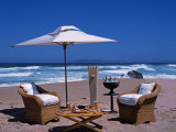 Lunch Set Up on Keurboom Beach for Guests at the Plettenberg