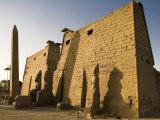 Dawn over the Impressive First Pylon of Luxor Temple  Egypt