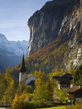 Lauterbrunnen Church  Berner Oberland  Switzerland
