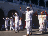 State of Yucatan  Merida  Participants in a Folklore Dance in the Main Square of Merida  Mexico