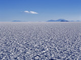 Endless Salt Crust of Salar De Uyuni  Largest Salt Flat in World at over 12  000 Square Kilometres