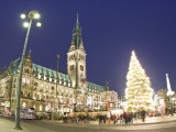 Christmas Market  Rathaus  Hamburg  State of Hamburg  Germany