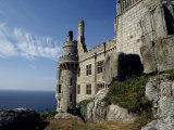 Battlements of St Michael&#39;s Mount  Cornwall  England