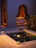 Four Seasons Resort Hotel  Plunge Pool in Private Outdoor Area of the Spa at Night