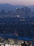 California  Los Angeles  Downtown View from Baldwin Hills  Dawn  USA