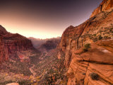 Utah  Zion National Park  from Canyon Overlook  USA