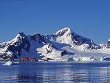 Paradise Harbour  the Chilean Base in Paradise Harbour on Antarctic Peninsula  Antarctica