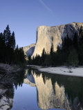 California  Yosemite National Park  Merced River  Cathedral Beach and El Capitan  USA