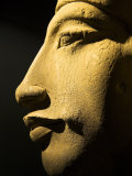 Bust of the 18th Dynasty Pharoah Akhenaten in the National Museum in Alexandria  Egypt