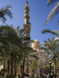 Families Relax after Prayers in Tree-Lined Garden of Abu Al-Abbas  Al-Mursi Mosque  Alexandria