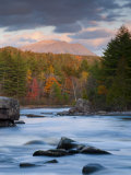 Maine  West Branch of the Penobscot River and Mount Katahdin in Baxter State Park  USA