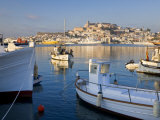 Harbour and Old Town  Eivissa or Ibiza Town  Ibiza  Balearic Islands  Spain