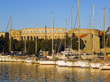 Late Afternoon Light on Yachts in Harbour with the Roman Amphitheatre in the Background