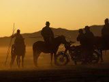 Horse Herders Returning Home after a Horse Festival in Karakorum  Hangai Province  Mongolia